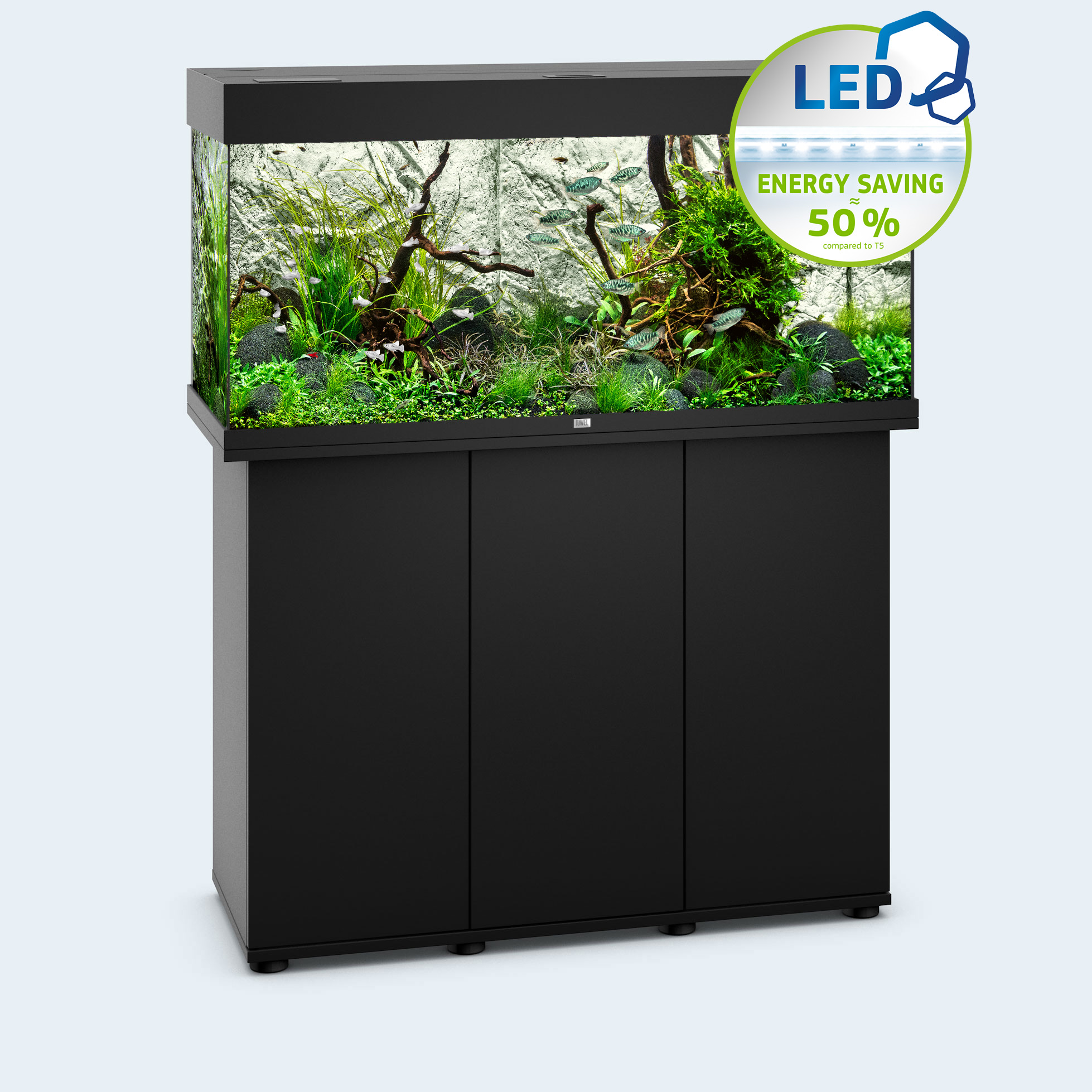 juwel aquarium rio 180 led aquarium schwarz bunte. Black Bedroom Furniture Sets. Home Design Ideas